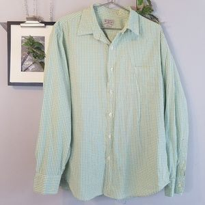 J. Crew Two Color Tattershell Button Down Shirt L